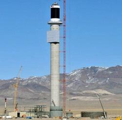 Crescent Dunes Solar Tower Construction
