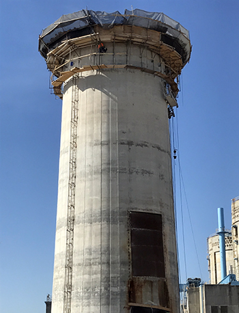 Concrete Chimney Demolition